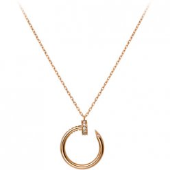 copia cartier juste un clou collana 18k oro rosa con diamanti