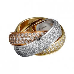 copia trinity de Cartier anello coperti diamante N4210800