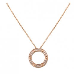 copia cartier love collana rosa Oro con diamanti
