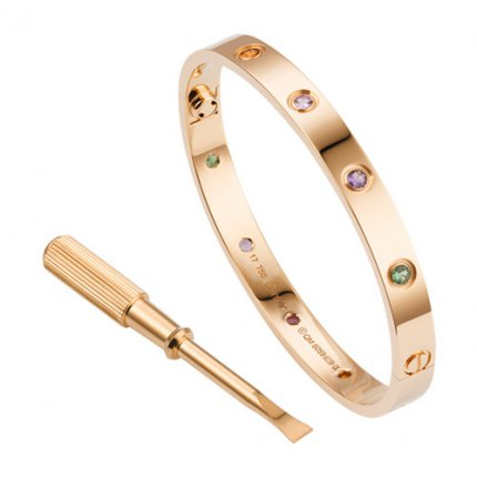copia cartier love bracciale oro rosa poco costoso