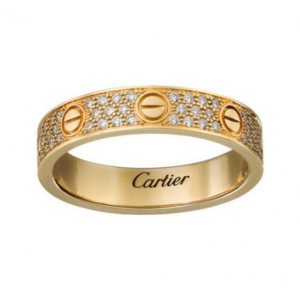cartier love anello replica oro giallo con diamanti