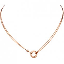 copia cartier love collana rosa oro con 2 diamanti