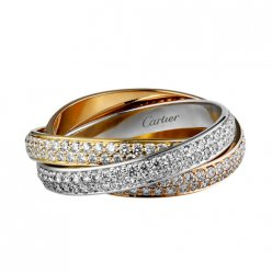 Replik Trinity de Cartier Ring 3-Gold bedeckt Diamant N4227600