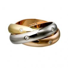 Replik trinity de Cartier Ring und Diamant B4038800