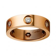 kopie cartier love ring rosa gold 6 diamanten