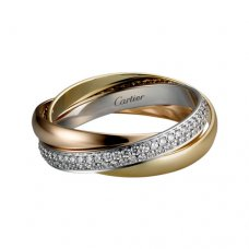trinity de Cartier Ring Replik bedeckt Diamant B4086000