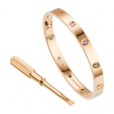 Kopie cartier love Armband rosa Gold billig