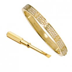 replik cartier bracciale gold giallo gold con diamanti