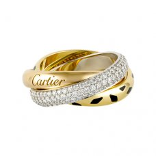 trinity de Cartier Ring bedeckt Diamant Replik N4226500