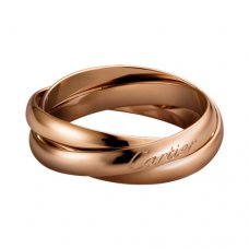 trinity de Cartier rosa gold ring replik B4218800