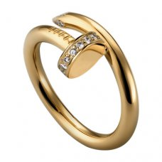 cartier juste un clou ring gelb gold diamant replik B4216900