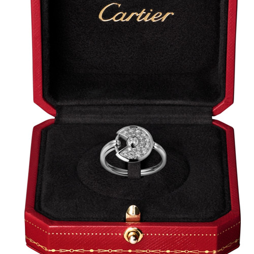 amulette de cartier ring weißes gold replikat B4213550