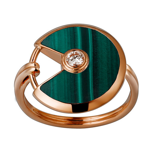 amulette de cartier ring rosa gold diamond replik B4214300