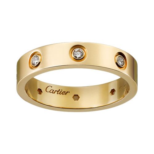 Replik Cartier love Ring Gelbgold mit Diamanten