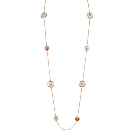 Amulette de cartier collier rose or réplique vente bon marché