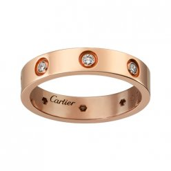 copie cartier love pink Bague en or huit diamants