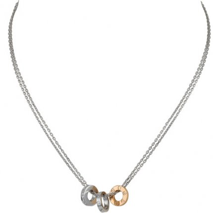 Collier faux collier love cartier collier en diamants en or blanc