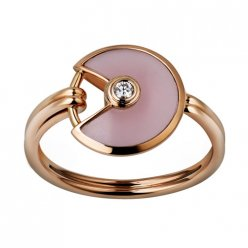réplique amulette de cartier bague diamant en or rose B4213400