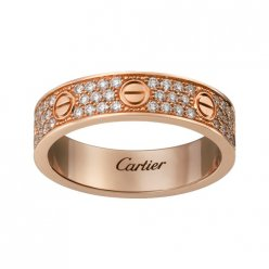 copie cartier love bague rose diamant doré