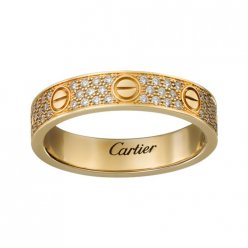 réplique bague love cartier or jaune avec diamants