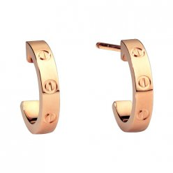 copie boucle oreille cartier love rose vis or B8029000