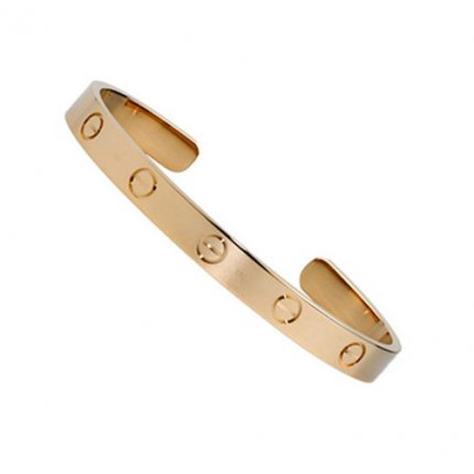 copie cartier bracelet manchette 18k or rose B6032416