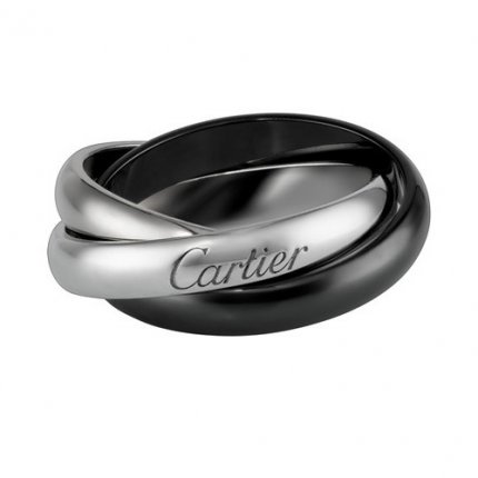 Trinity de Cartier bague en or blanc réplique B4095600