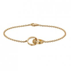 réplique du bracelet en or jaune 18k cartier love