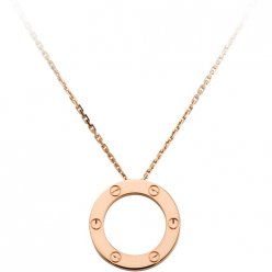 Copie Cartier Love Collier rose Or avec pendentif
