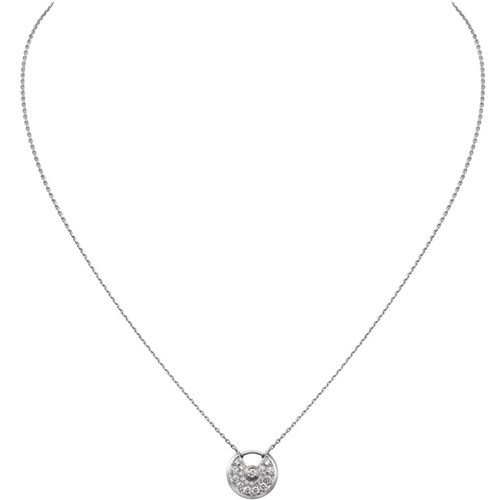 réplique amulette de cartier collier en or blanc plus diamants