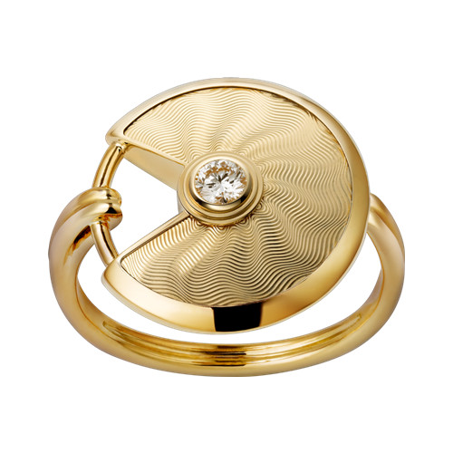 amulette de cartier bague or jaune diamant réplique B4217100