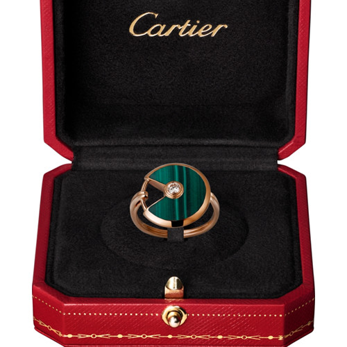 Amulette de cartier bague rose or diamant réplique B4214300