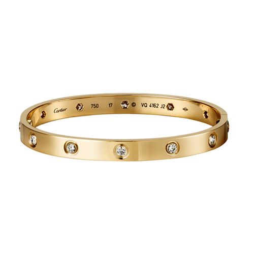 réplique bracelet cartier love or jaune avec 10 diamants