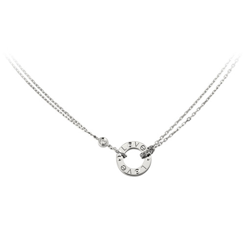 réplique cartier collier love en or blanc avec 2 diamants