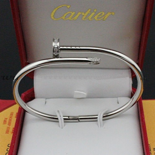 bracelet faux cartier juste un clou or blanc avec diamants