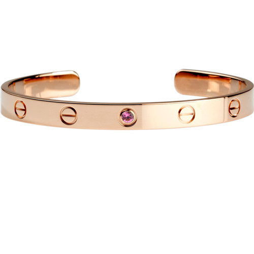 copie cartier bracelet manchette 18k or rose avec un diamant