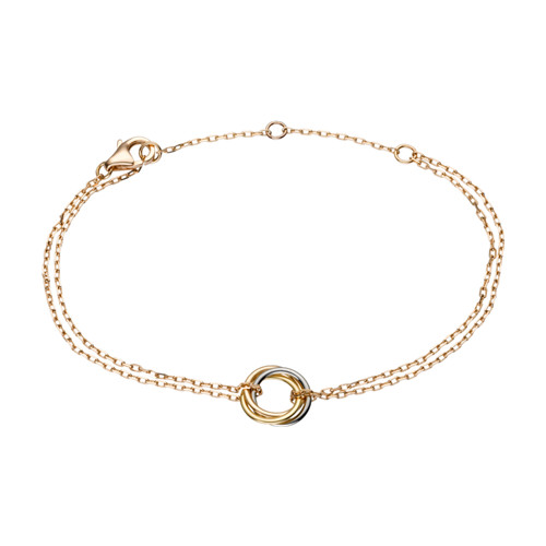 Trinity de réplique bracelet cartier 18k or rose