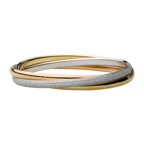Trinity de cartier bracelet réplique avec diamants N6034102
