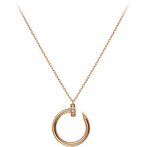 copie cartier juste un clou collier 18k or rose avec diamants