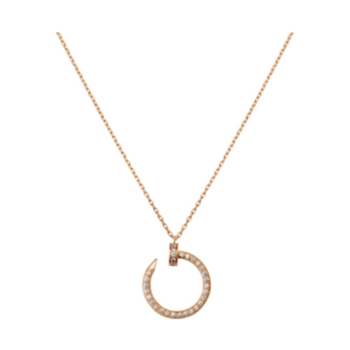 Copie cartier juste un clou collier 18k vente en ligne or rose