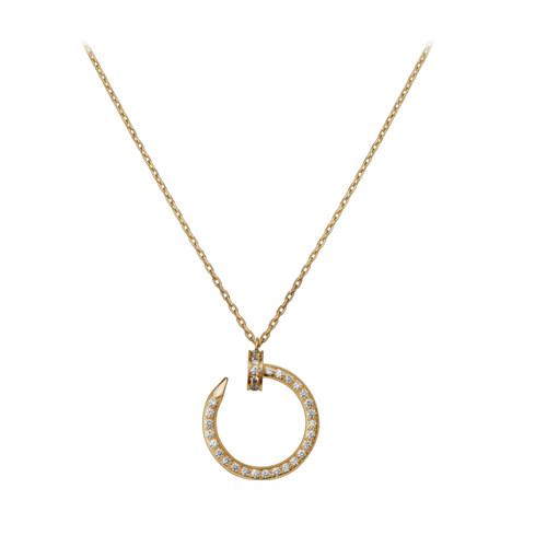 réplique de cartier juste un clou collier 18k diamants en or jaune