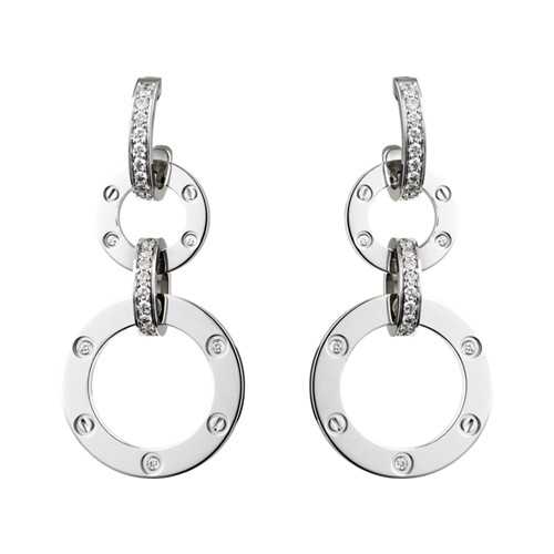 Cartier Love Boucles oreilles en or blanc diamant réplique N8049000