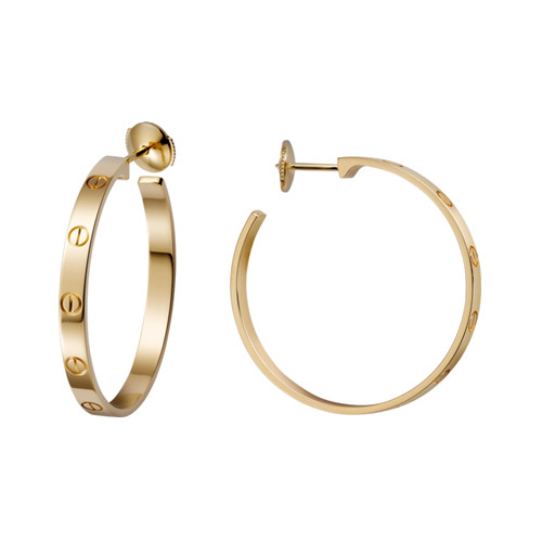 Cartier Love Boucles oreille en or jaune vis réplique B8028200