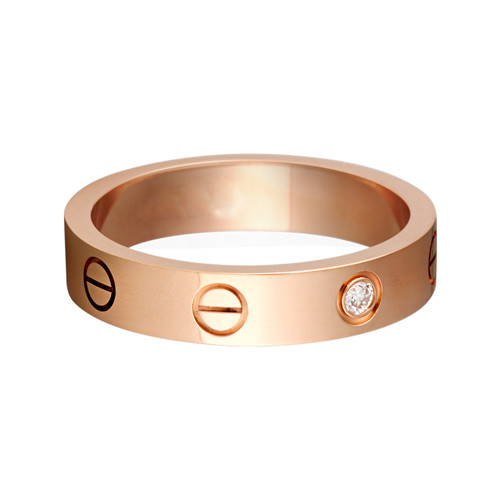 copie cartier love bague pink Ventes or et de diamants