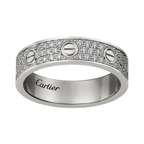 faux cartier love bague blanc or et diamants