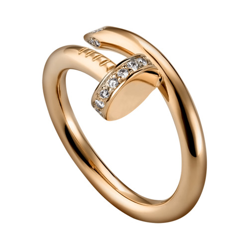 cartier juste un clou bague rose or diamant copie B4094800