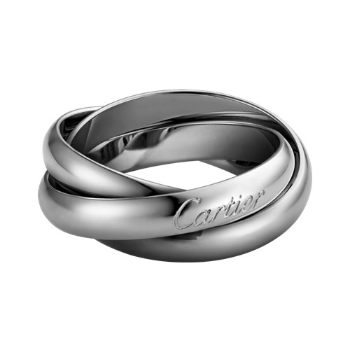 Trinity de Cartier bague en or blanc réplique B4218600