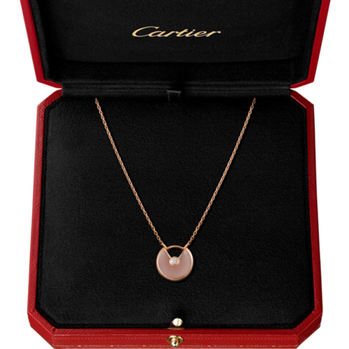 copia cartier collana oro rosa amuleto de con diamanti