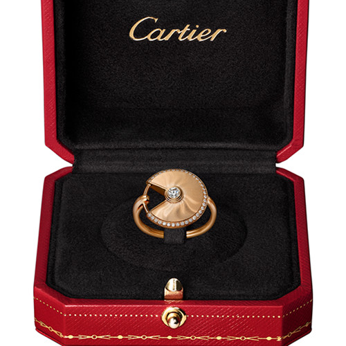 cartier anello diamante in oro rosa de amulette de falso B4217200