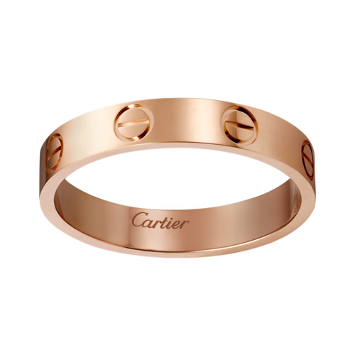 copia cartier love anello oro rosa per uomini e donne